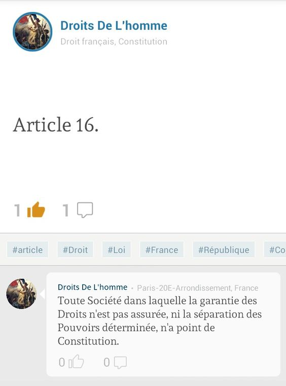 Profil FORUM « Droits de l'Homme ». « Article 16 »