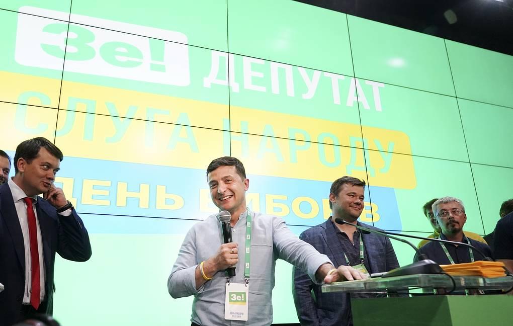 Ukraine - Zelensky obtient la majorité des sièges à la Rada