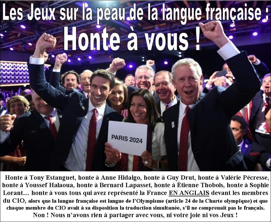 JO Paris-2024 : je ne partagerai ni leur joie ni leurs Jeux !