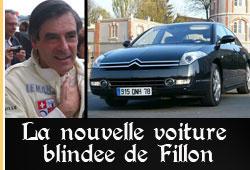 Voiture blindée de François Fillon
