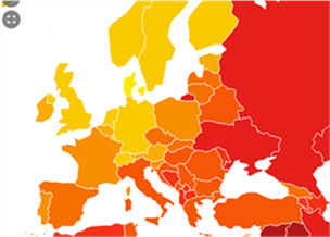 Corruption perception Europe