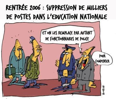 Suppression de postes dans l'Education nationale