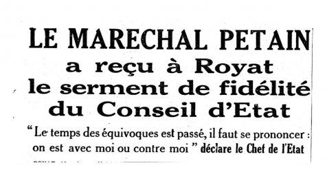 Est-il pertinent de comparer notre présent au régime de Vichy ?