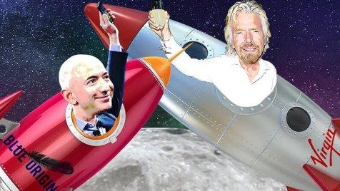 Le bras de fer spatial entre Jeff Bezos et Richard Branson
