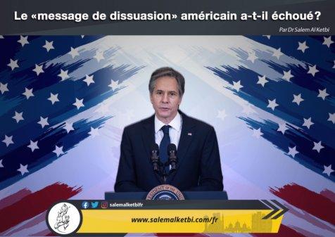 Le « message de dissuasion » américain a-t-il échoué ?