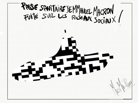 Pass sanitaire d'Emmanuel Macron fuite sur les réseaux sociaux