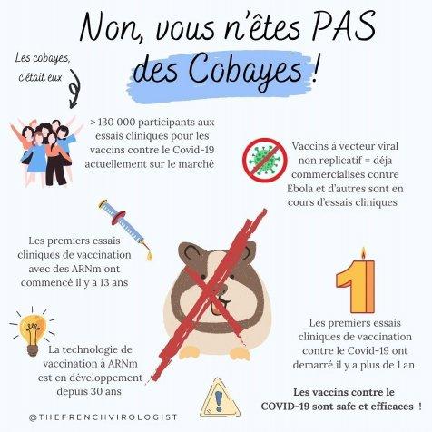 Vaccins anti-covid : Non, nous ne sommes pas des cobayes !