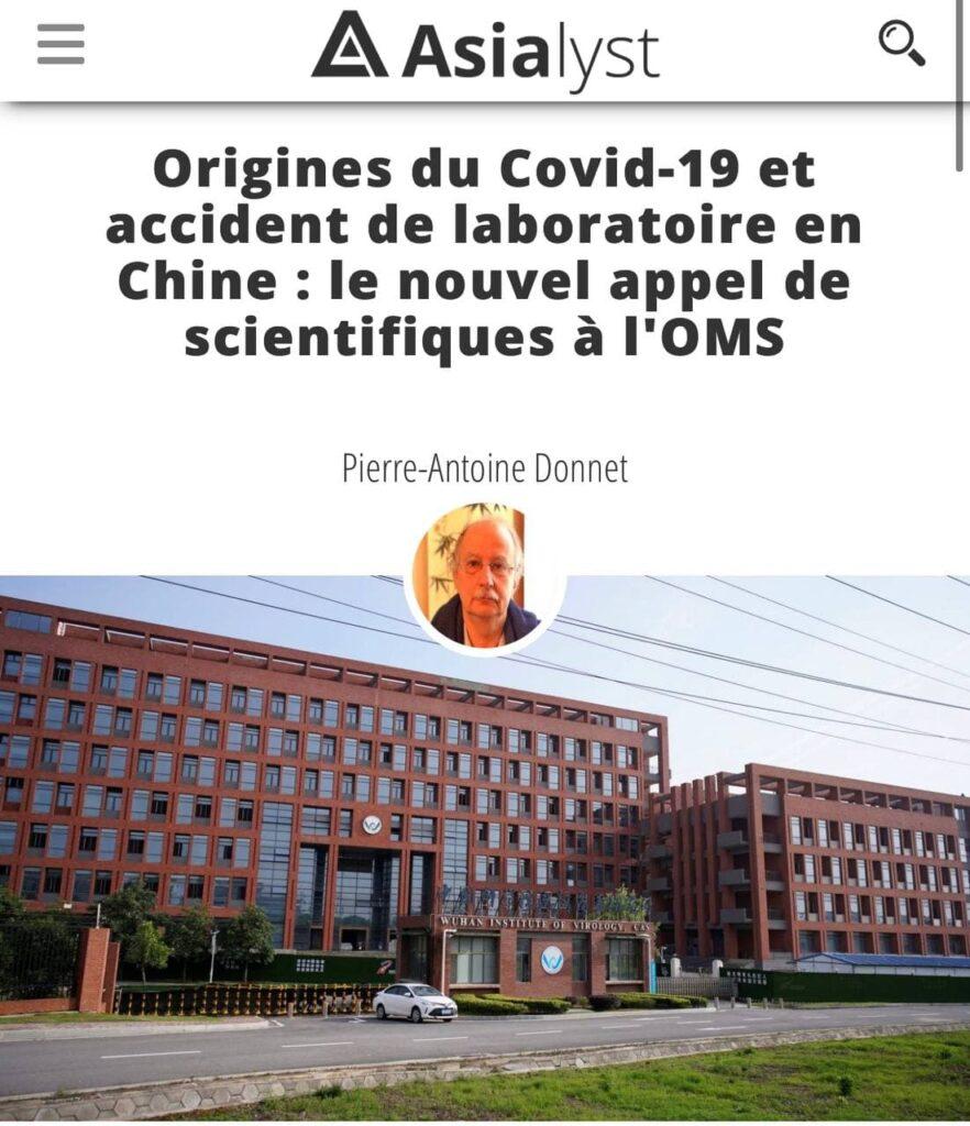 La vérité sur l'origine du Covid-19 : fuite de laboratoire à Wuhan ?