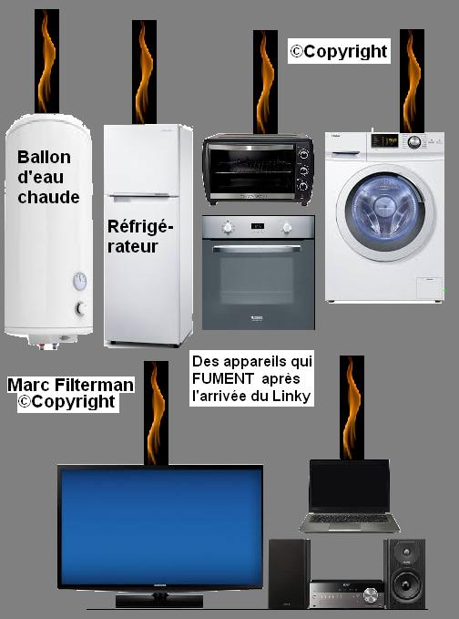 apreès la pose du compteur linky panne de domotique, TV, téléviseur, ordinateur, réfrigérateur, four, machine à laver, ascenseur, porte de garage, volet roulant, lampe de chevet tactile {JPEG}