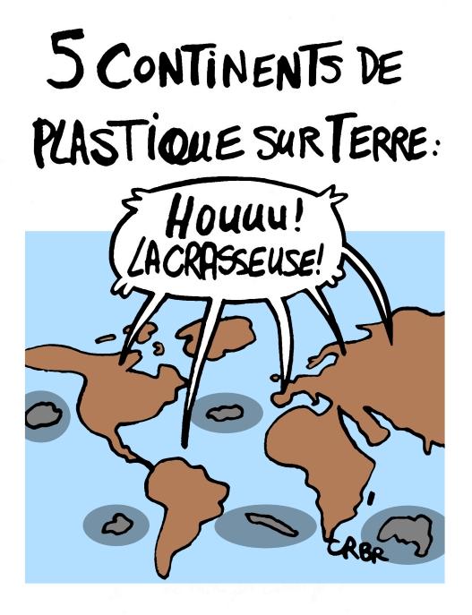 5 continents de plastique sur Terre