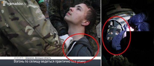 Obrázek dokazující, že Protassevich byl bojovník, a proto mohl spáchat válečné zločiny
