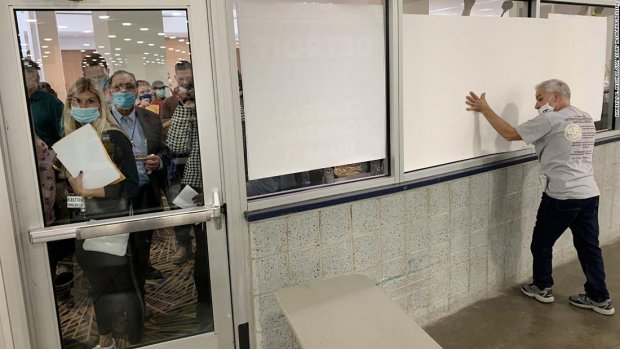 Right-wing media portrayed window covering at ballot center as nefarious.  Here's what really happened - CNN