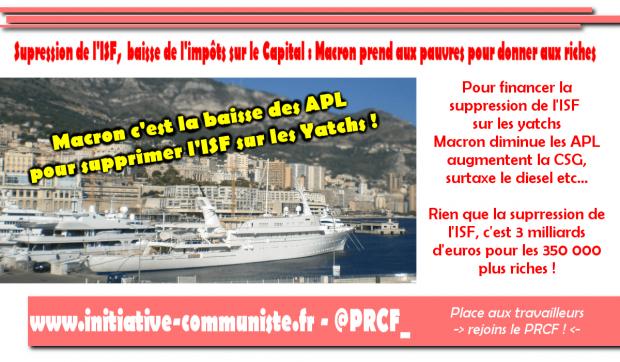 President Des Riches Macron Supprime L Isf Et Donne 3 Milliards D