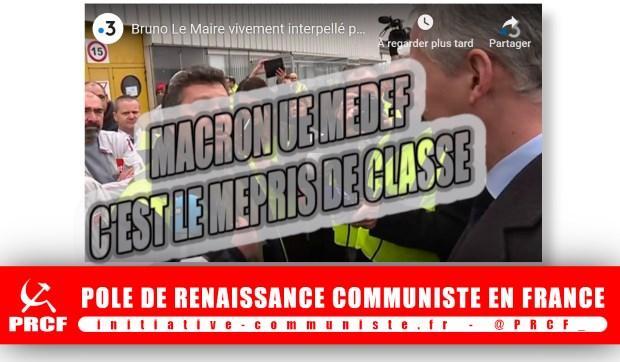 avec ou sans GILETS JAUNES, couleurs d'une colère sociale, 17 nov-16 déc 2018 Macron-lemaire-mepris-de-classe-01c35