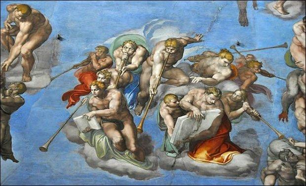 Michel ange et la chapelle sixtine agoravox le m dia citoyen - Michel ange le plafond de la chapelle sixtine ...