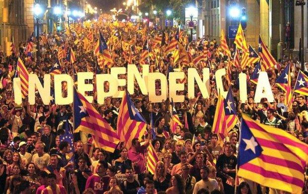 Manifestation indépendantiste des Catalans à Barcelone