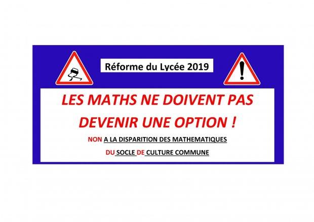 Reforme Lycee 2019 Les Maths Ne Doivent Pas Devenir Une Option