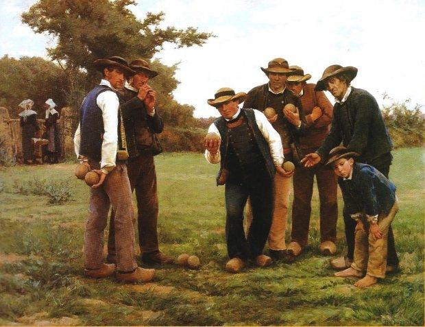 Théophile Deyrolle, Les joueurs de boules (1887, musée des Beaux-Arts de Quimper)