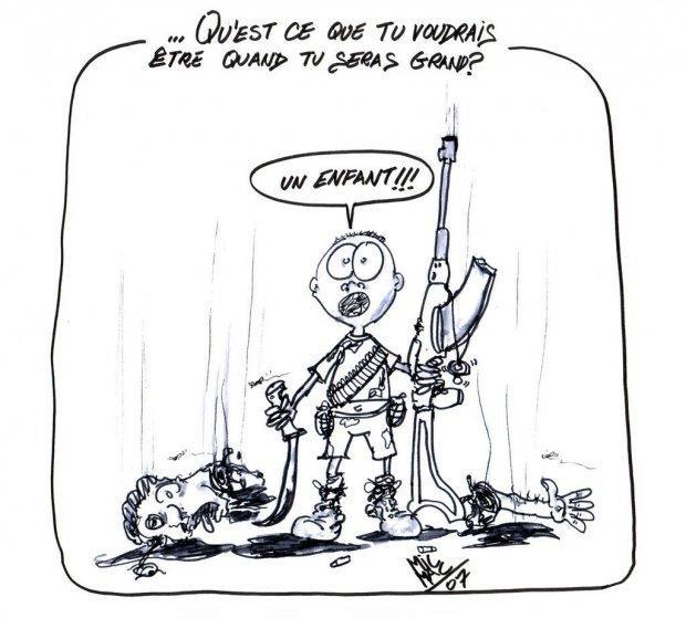 Enfant soldat agoravox le m dia citoyen - Dessin de soldat ...