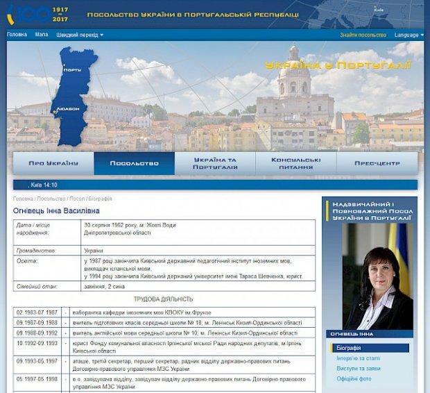 Ambassadrice d'Ukraine au Portugal