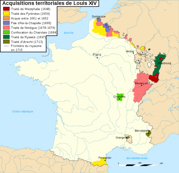 Acquisitions territoriales de Louis XIV