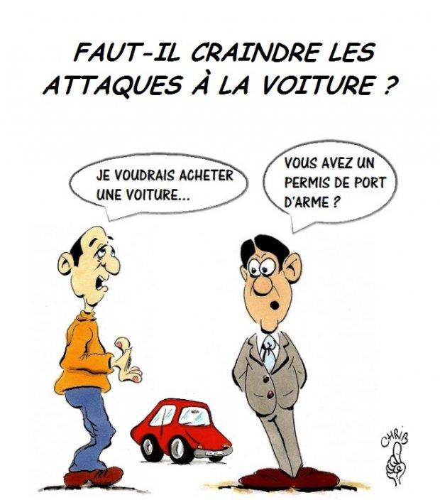 Comment lutter contre les attaques la voiture - Dessin humoristique voiture ...