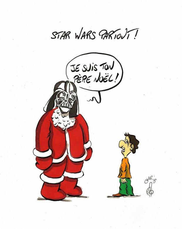 Star wars est partout agoravox le m dia citoyen - Image humoristique pere noel ...